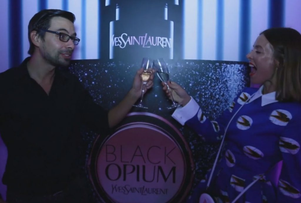 Launch of YSL Black Opium