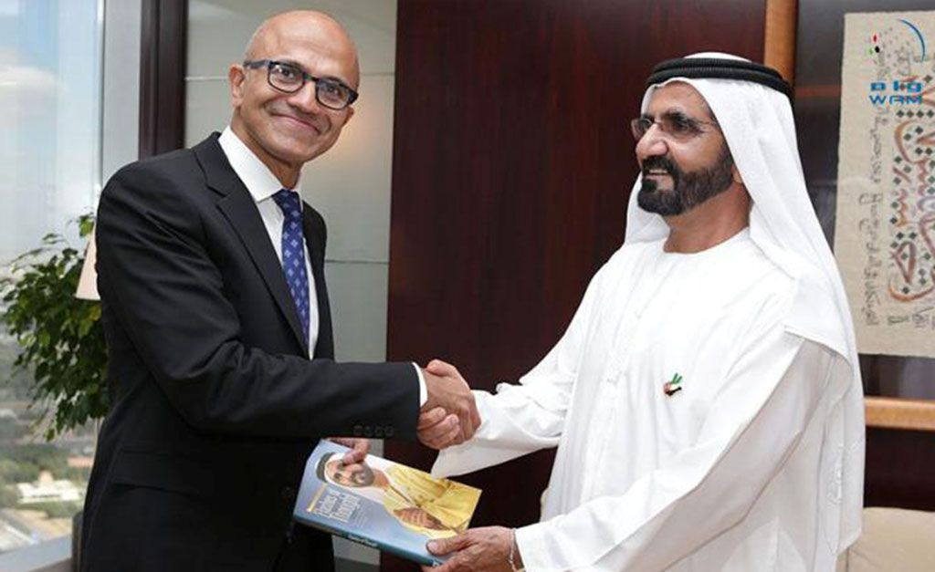 MOHAMMED BIN RASHID RECEIVES CEO OF MICROSOFT